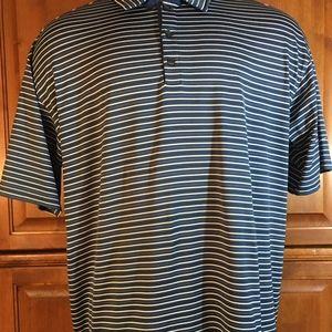 ♻️ Nike Mens striped golf Polo Shirt Size Xl